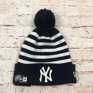 New York Yankees Knit Hat New Era Cuff Pom Beanie